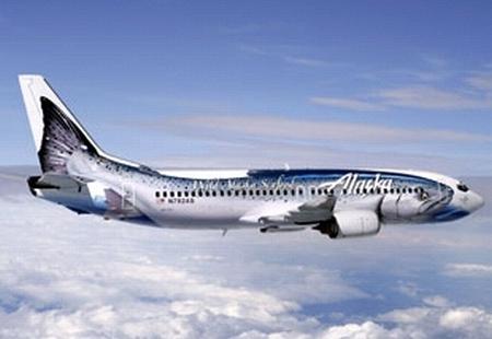 Az Alaska Airlines lazac repülőgépe