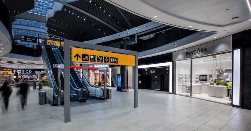 róma reptér belső