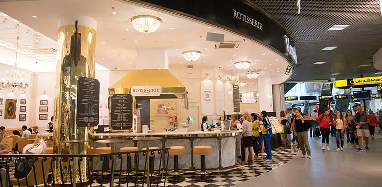 Étterem a Lisszabon Portela Repülőtér területén